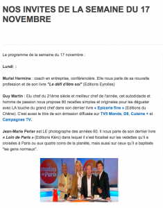 Invités de la semaine Les Matins de Paris Paul Wermus France3 Paris Ile de France