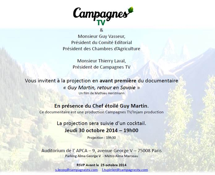 campagne tv invitation